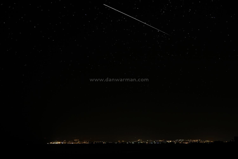 Perseid meteor shower over Eastbourne