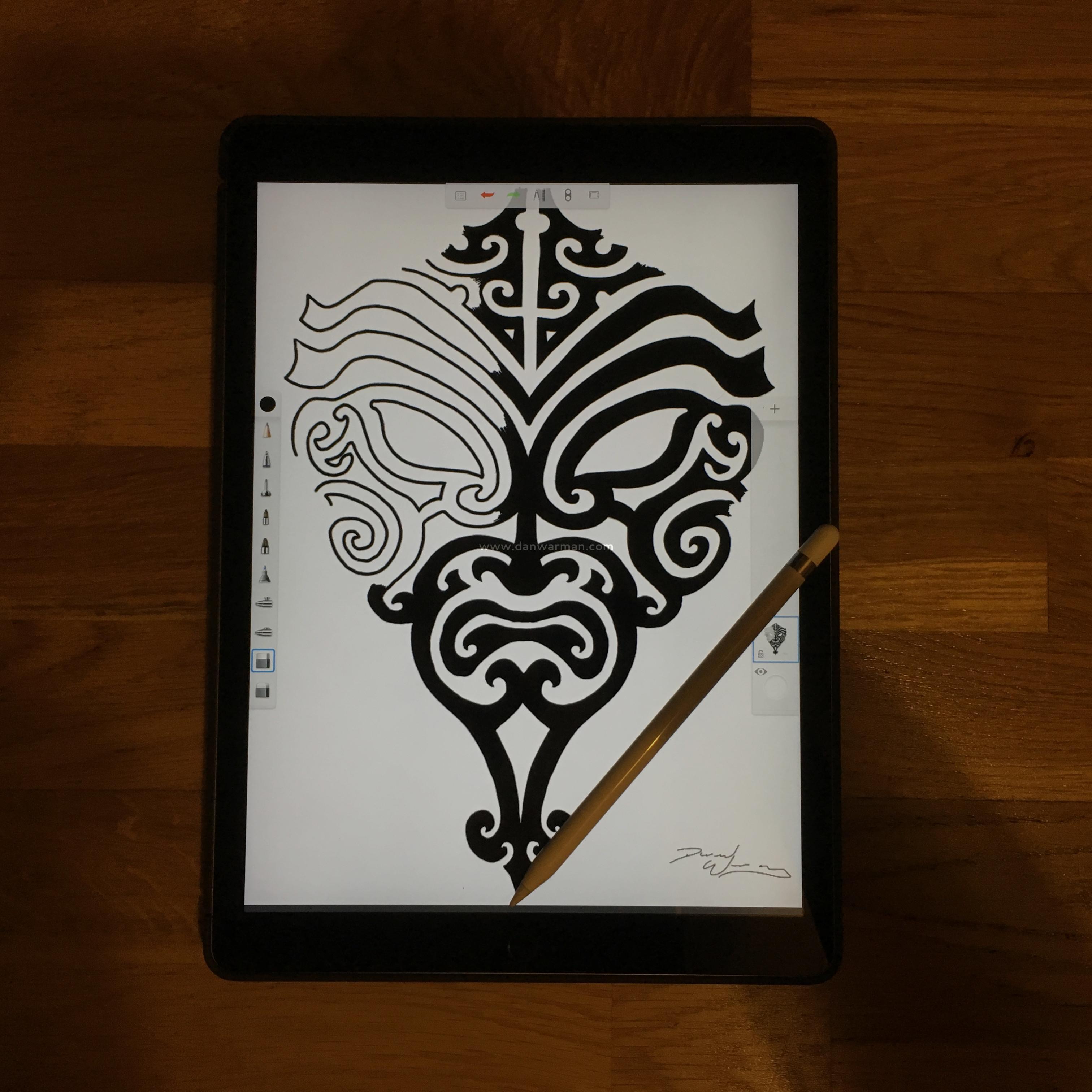 Apple iPad Pro and Pencil Sketch
